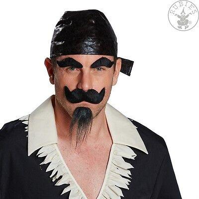 Bart Set Piratenbart Schnauzbart Kinnbart Augenbrauen Fasching Kostüm 125192813