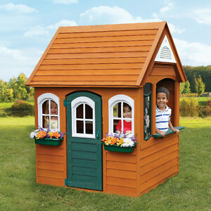 New Cedar Summit Bancroft Wooden Playhouse!