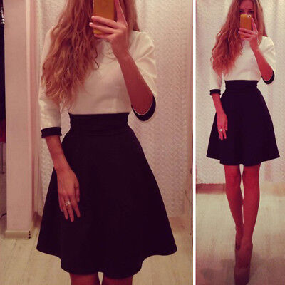 M Fashion Women Long Sleeve Bodycon Casual Party Evening Cocktail Mini Dress