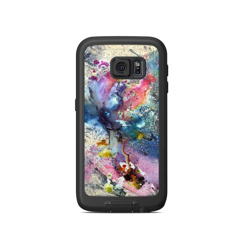 Skin for LifeProof Galaxy S6 FRE Case - Cosmic Flower - Sticker Decal