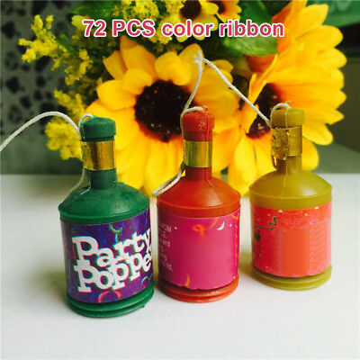 72Pcs Assorted Colourful Party Poppers Celebration for Wedding Birthday Party](Birthday Poppers)