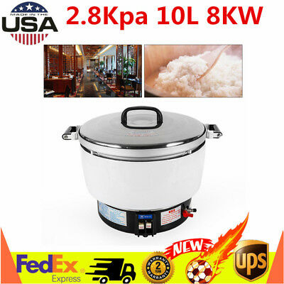 New Natural Gas Commercial Rice Cooker 10l Capacity 2.8kpa 8.5kg Rice Usa Stock