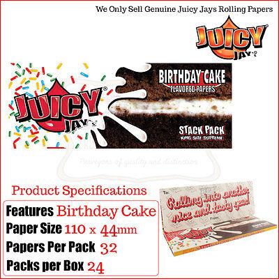 Juicy Jays King Size Sottili Torta Di Compleanno Pila Confezione -1 - 2 & 4
