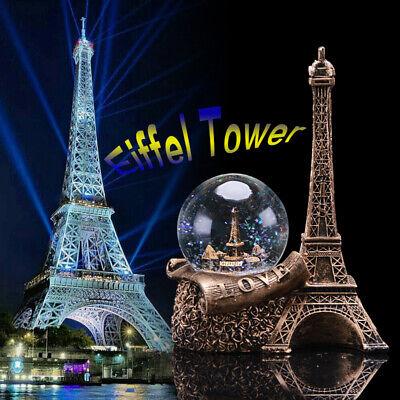 Glitter Globes (Paris France Water Snow Globe Decoration Ornament Glitter Eiffel Tower Girl)