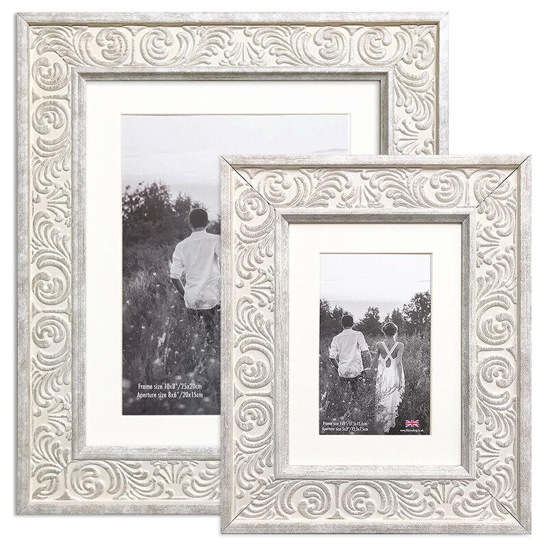 Photo Frame White Provence Ornate