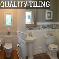 Professional tiling installs by QUALITY TILING
