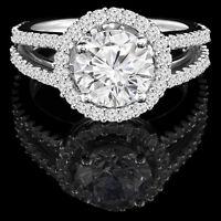 Bague de fiançailles 1.25CTW White gold diamond engagement ring