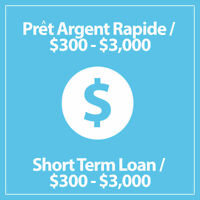 1 Hour *Fast Loan* / No Credit Check / $300 - $3,000 - All of QC