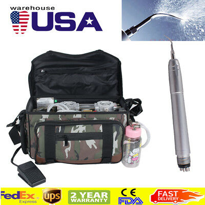 Portable Dental Turbine Unit 4 Hole Compressor Suction 3w Syringe Bag Air Scaler