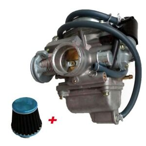 HIGH PERFORMANCE CARBURETOR GY6 150CC 125CC CARB 26MM SCOOTER ATV+ AIR FILTER 43