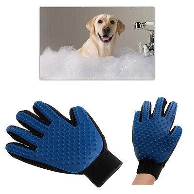 Massage True Glove Touch Deshedding Gentle Efficient Pet Grooming Dogs Cats Bath