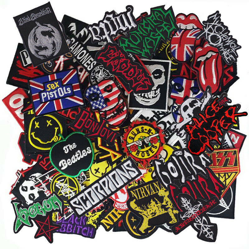 Iron on Patch Band Punk Rock N Roll Reggae HipHop Music Wholesale DIY Random