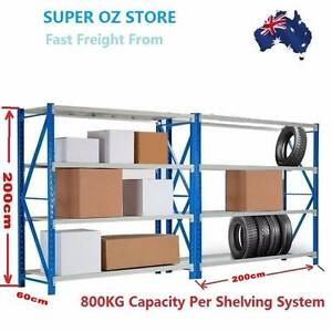 800KG 2M Garage Warehouse Steel Storage Shelving Shelves Racking Castle Hill The Hills District Preview
