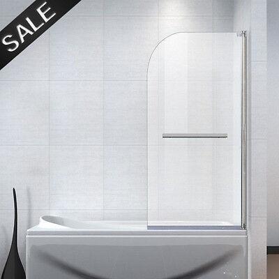 Tempered Glass Over Bath Shower Screen Door Panel Handle New 180°  Pivot 6 mm