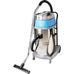 Industrial 220v Stainless Steel Wet/Dry Blower Shop Vacuum Cleaner Blue 30L (020318