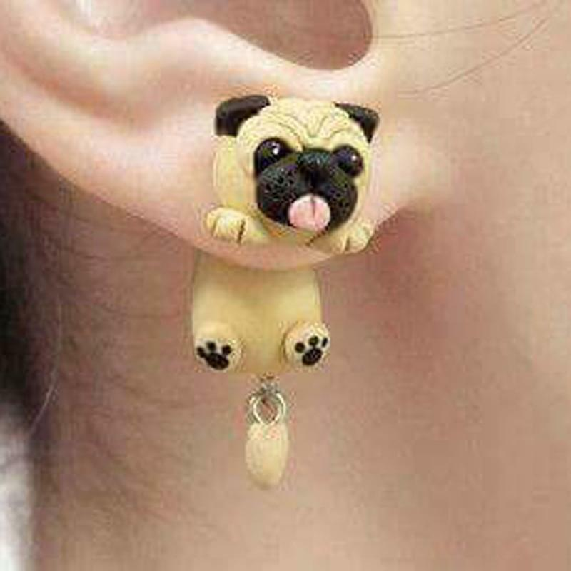 Handmade Pug Earrings
