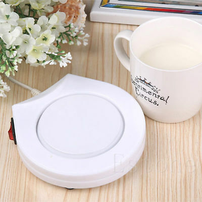 (Office House Use Electric Powered Warmer Cup Tea Coffee Mug Milk AC 110V US Plug)
