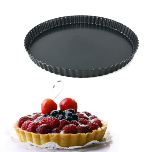 Non-stick Pie Tart Pan Baking Mould Removable Loose Bottom Quiche Pan