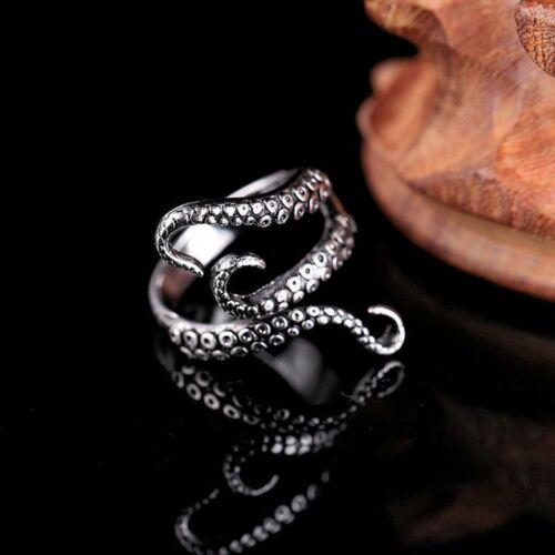 New Punk Octopus Tentacle Women Men Ring Size Open Adjustabl