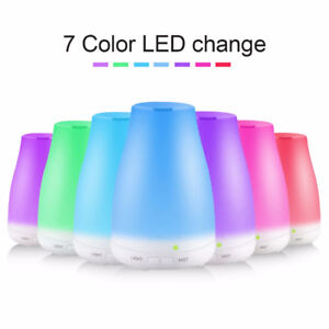 Aromatherapy Oil Diffuser / Humidifier Cool Mist With Color LED