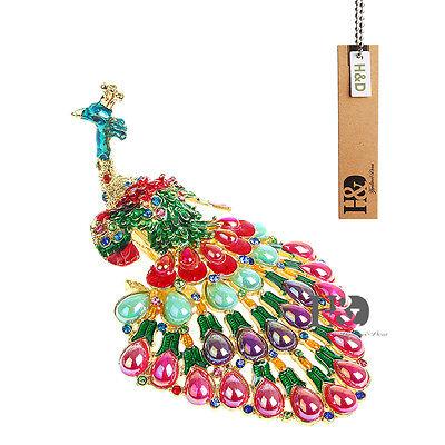 Handmade Metal Black-eyed Peacock Jewelry Box Beauty Trinket Boxes Wedding Gifts ()