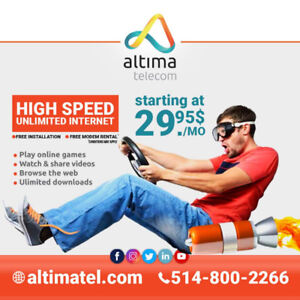 Unlimited High Speed Internet From 29.95$