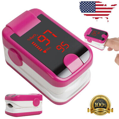 Portable Fingertip Oximeter Blood Oxygen Sensor Spo2 Pr Pulse Monitor Medical