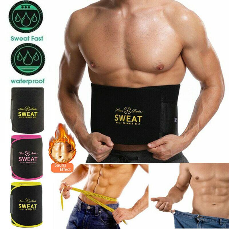 Sweat Slim Belt Men Hot Sauna Neoprene Waist Trainer Fat Bur