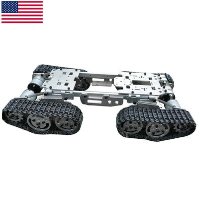 Intelligence Rc Tank Car Truck Robot Chassis Cnc Alloy Body Wzy569 4 Motors Usa