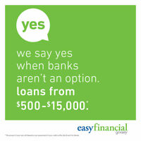 easyFinancial Personal Loans from $500 to $15,000!