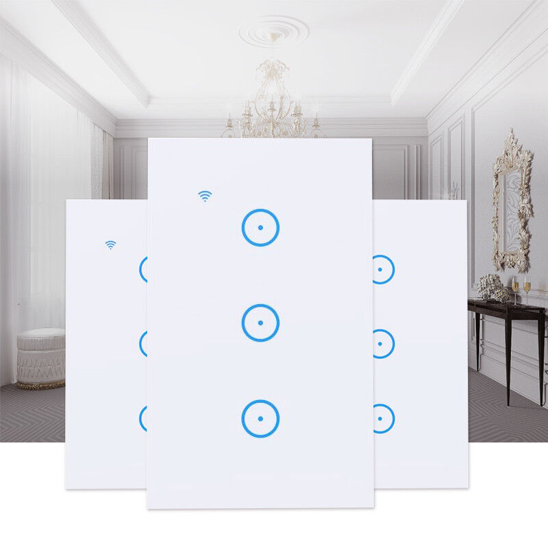 WIFI Smart Wall Light Touch Panel Switch App Timing Socket F