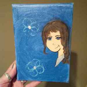 Hand painted Whimsical Girl on Canvas Cambridge Kitchener Area image 1