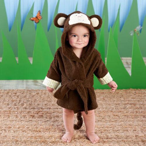 Boy Girl Animal Baby Bathrobe Hooded Bath Towel Infant Bathing Honey Baby US