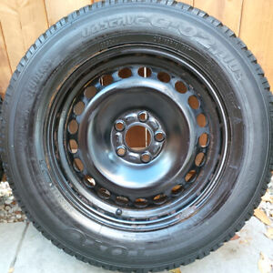 Four Toyo Observe G-02 Plus (215/65R16) Winter Tire and Rims