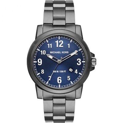 Michael Kors Paxton MK8499 Men's Gunmetal Stainless Steel Blue Dial Quartz Watch