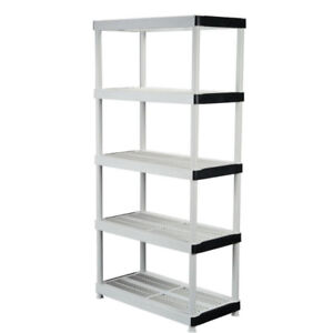 PLASTIC SHELVING - 4-TIER AND 5-TIER AVAILABLE