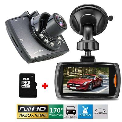 "Full HD 1080P 2.7"" Car DVR CCTV Dash Camera G-sensor Night Vision Recorder US"