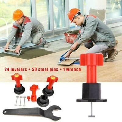 75Pcs DIY Reusable Anti-Lippage Tile Leveling System Locator Ceramic Floor Wall