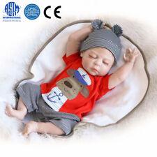 """23"""" Full Body Silicone Reborn Baby Sleeping Doll Soft Vinyl Lifelike Newborn Boy"""