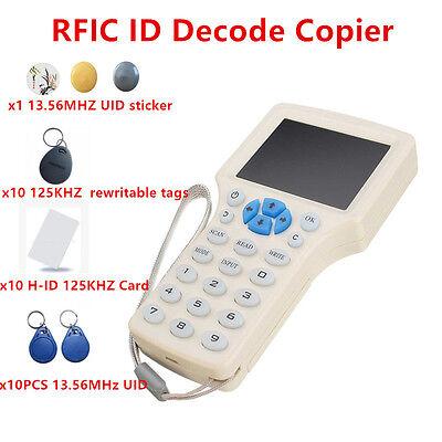 Nfc Reader Writer 125khz -13.56 Mhz Ic Id Card Rfid Copier F Uid Tag Duplicator