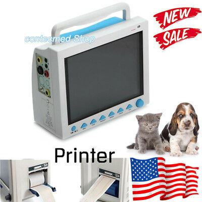 With Printer Vet Veterinary Patient Monitor Vital Signs Icuccu Monitor Cms8000