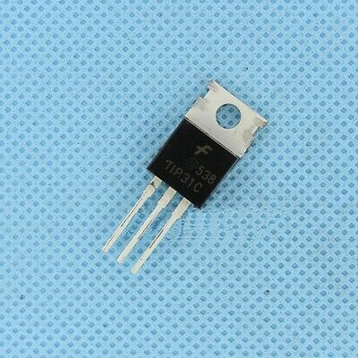 3pcs Tip31 Tip31c Fsc Npn Transistor 100v 3a To-220 Ic New L8