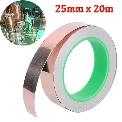 Ruban de cuivre blindage EMI Adhésif Double Face Bande 25mmx20m Copper Foil Tape