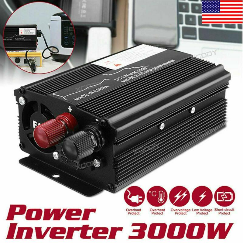 3000W Car Solar Power Inverter DC 12V To AC 110V/130V Sine Wave Converter XY1