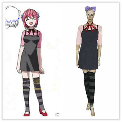 Elfen Lied Lucy Dress Full Set Cosplay Costume Halloween<CFM>