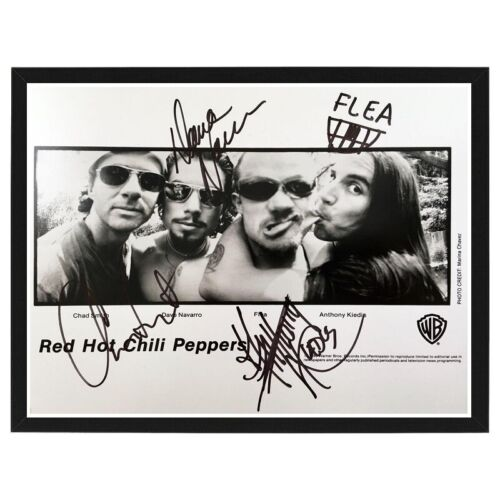 Ultra Rare RED HOT CHILI Pepper Signed By All Members Photo Print FRAMED!