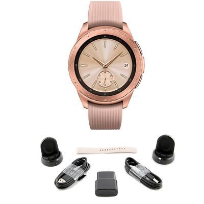 BUNDLE Samsung Galaxy Bluetooth Watch 42mm Rose Gold SM-R810