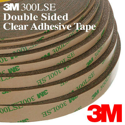 3M 300LSE Double Sided Super Sticky Transparent Clear Adhesive Tape 9495LE (Clear Adhesive)