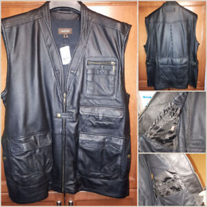 New with Tags. Mens XL Danier Leather Vented Motorcycle/Utility