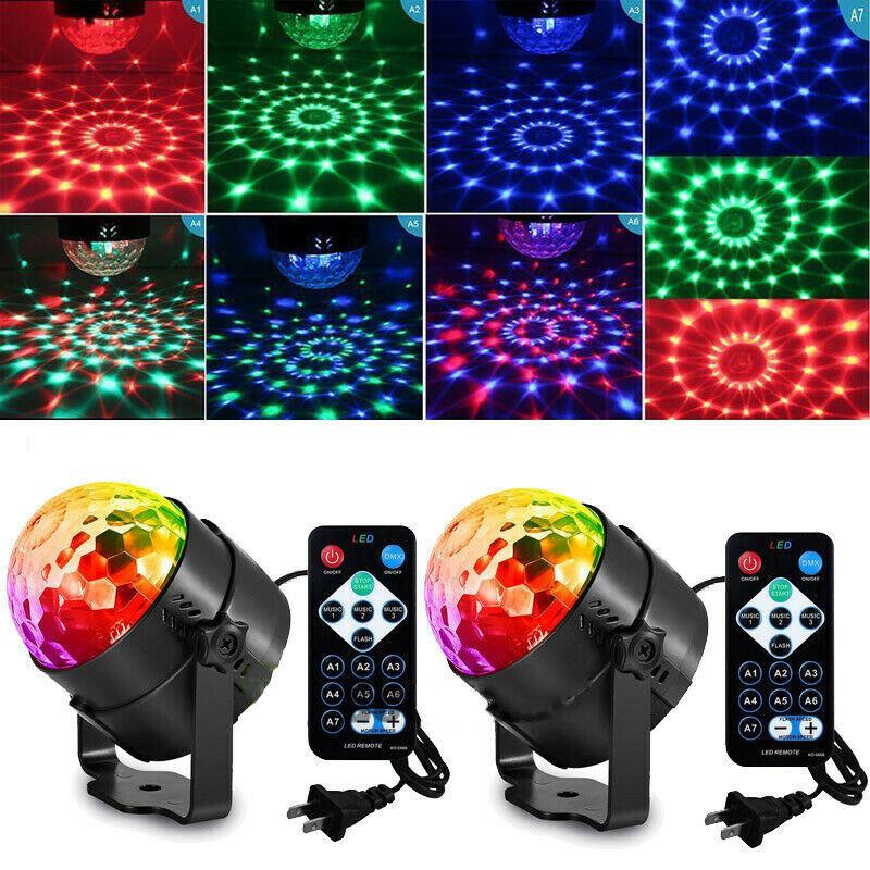 2Pack Disco Party Light Stage Light Strobe LED DJ Ball Indoo